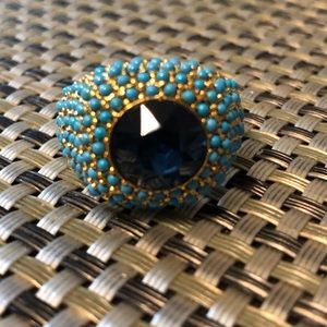 Turquoise and sapphire ring size 7.5